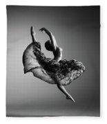 Ballerina Jumping Fleece Blanket