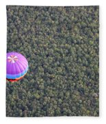 Balloon Over Forest Fleece Blanket