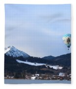 Balloons Over Tegernsee Fleece Blanket
