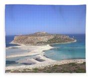 Balos Lagoon Fleece Blanket