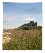 Bamburgh Castle And Beach In Summer Fleece Blanket