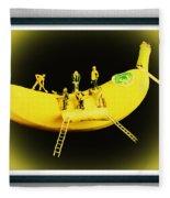 Banana Boat Mining Company Black Frame Fleece Blanket