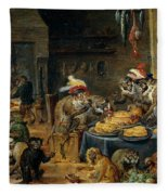 Banquete De Monos   Fleece Blanket