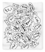 Banter Bubbles From A Comic Creation Fleece Blanket