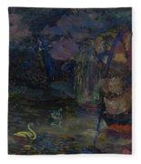 Baranoff-rossine Vladimir  1888-1944  Fairy Lake Fleece Blanket