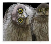 Barking Owls 2 Fleece Blanket