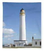 Barns Ness Lighthouse In Summer Fleece Blanket