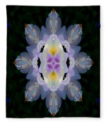 Baroque Fantasy Flowers Ornate Fleece Blanket