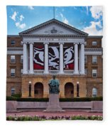 Bascom Hall - Madison - Wisconsin Fleece Blanket
