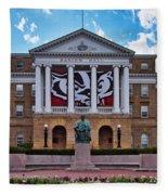 Bascom Hall - Madison - Wisconsin Fleece Blanket