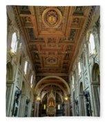 Basilica Di San Giovanni In Laterano Fleece Blanket