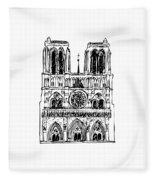 Basilica Notre Dame Fleece Blanket