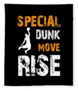 Basketball Sports Player Special Dunk Move Rise Gift Idea Fleece Blanket