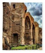 Baths Of Caracalla Fleece Blanket