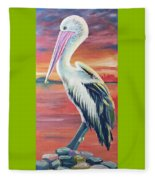 Bayou Pelican / Modern Ibis Fleece Blanket