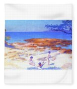 Beach At Cabasson - Digital Remastered Edition Fleece Blanket