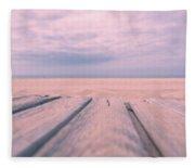 Beach Boardwalk Fleece Blanket