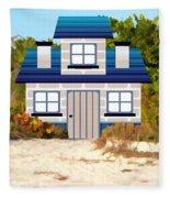 Beach Cottage Fleece Blanket