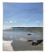 Beach Scene On A Sunny September Afternoon  Fleece Blanket