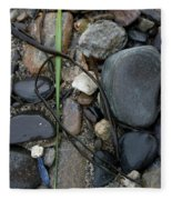 Beach Kanji Fleece Blanket