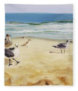 Beach Stroll Fleece Blanket