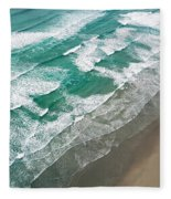 Beach Waves From Above Fleece Blanket