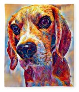 Beagle 3 Fleece Blanket