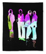 Beatles Watercolor II Fleece Blanket