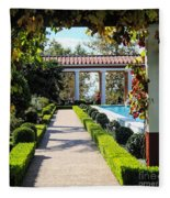 Beautiful Courtyard Getty Villa  Fleece Blanket