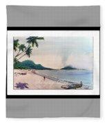 Beautiful Goa Beach Fleece Blanket