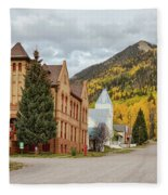 Beautiful Small Town Rico Colorado Fleece Blanket
