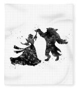 Beauty And The Beast Dancing Fleece Blanket