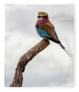 Beauty With Wings, The Lilac Breasted Roller Fleece Blanket