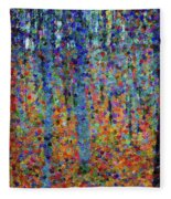 Beech Grove Abstract Expressionism Fleece Blanket