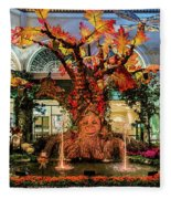 Bellagio Conservatory Enchanted Talking Tree Ultra Wide 2018 2.5 To 1 Aspect Ratio Fleece Blanket