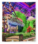 Bellagio Conservatory Spring Display Front Side View Wide 2018 2 To 1 Aspect Ratio Fleece Blanket