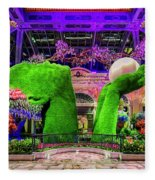 Bellagio Conservatory Spring Display Ultra Wide 2 To 1 Aspect Ratio Fleece Blanket