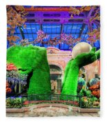 Bellagio Conservatory Spring Display Ultra Wide Trees 2018 2 To 1 Aspect Ratio Fleece Blanket
