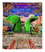 Bellagio Conservatory Spring Display Ultra Wide Trees 2018 Fleece Blanket