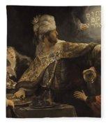 Belshazzar S Feast  Fleece Blanket