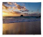 Bermuda Beach Sunrise Fleece Blanket
