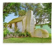 Bermuda Botanical Gardens Cottage Fleece Blanket