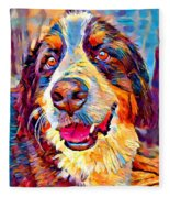 Bernese Mountain Dog Fleece Blanket