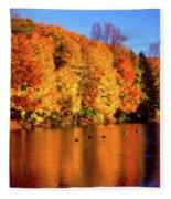 Bernharts Dam Fall 008 Fleece Blanket