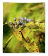 Berries And Aging Leaves 5709 Idp_2 Fleece Blanket