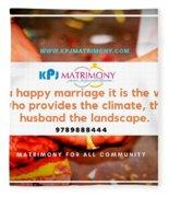 Best Matrimony In Chennai Fleece Blanket