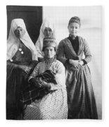 Bethlehem Women In 1886 Fleece Blanket