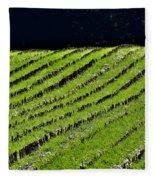 Between The Rows Fleece Blanket