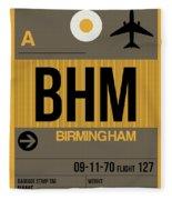 Bhm Birmingham Luggage Tag I Fleece Blanket