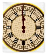 Big Ben Midnight Clock Face Fleece Blanket